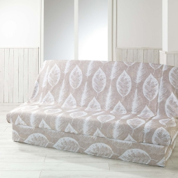 Housse de clic clac 195 x 70 x 65 cm polyester imprime feuilla Lin