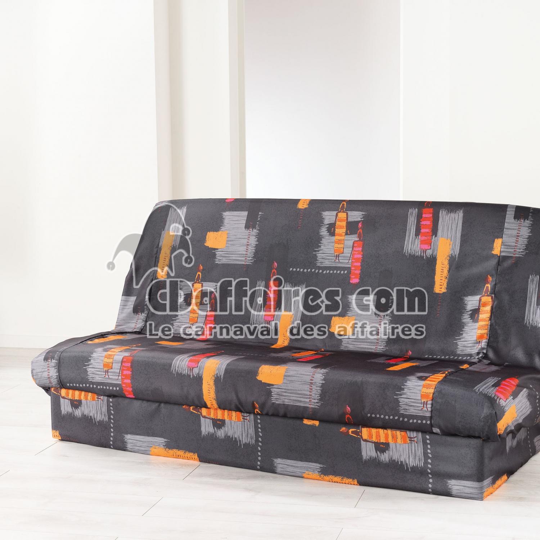 Housse de clic clac 195 x 70 x 65 cm polyester imprime for Housses de clic clac matelassees