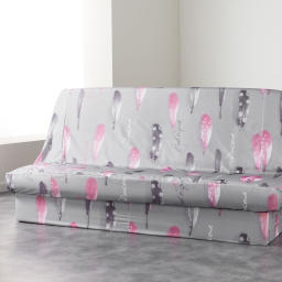 Housse de clic clac 195 x 70 x 65 cm polyester imprime poetique Gris