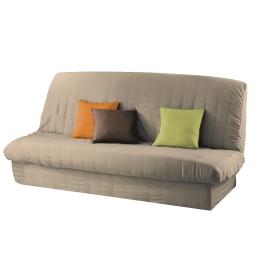 Housse de clic clac mat. 120 à 140 cm - 185 à 200 cm polyester uni essentiel Lin