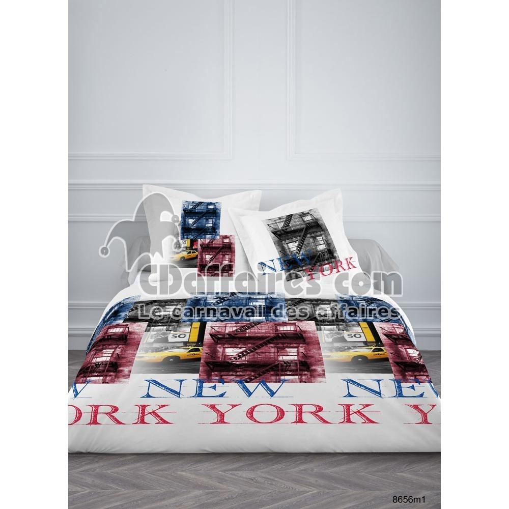 housses de couette imprim es cdaffaires. Black Bedroom Furniture Sets. Home Design Ideas