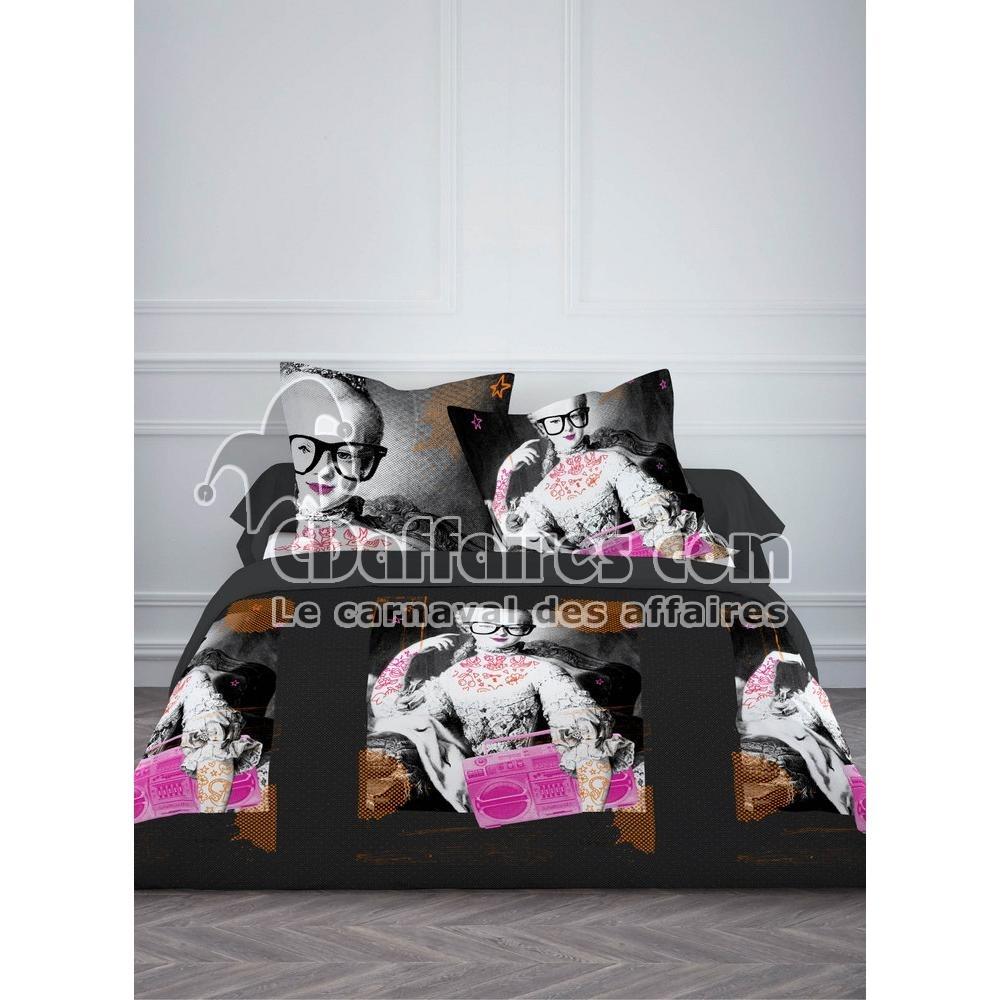 housse de couette 2 taies d 39 oreiller 100 coton 220x240 cm opera rock ebay. Black Bedroom Furniture Sets. Home Design Ideas