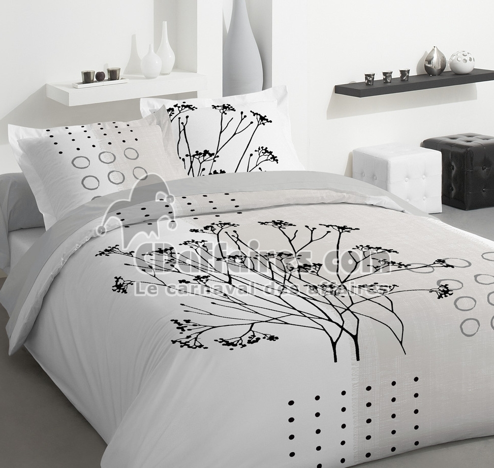 housse de couette 220x240 100 coton ombrage ebay. Black Bedroom Furniture Sets. Home Design Ideas