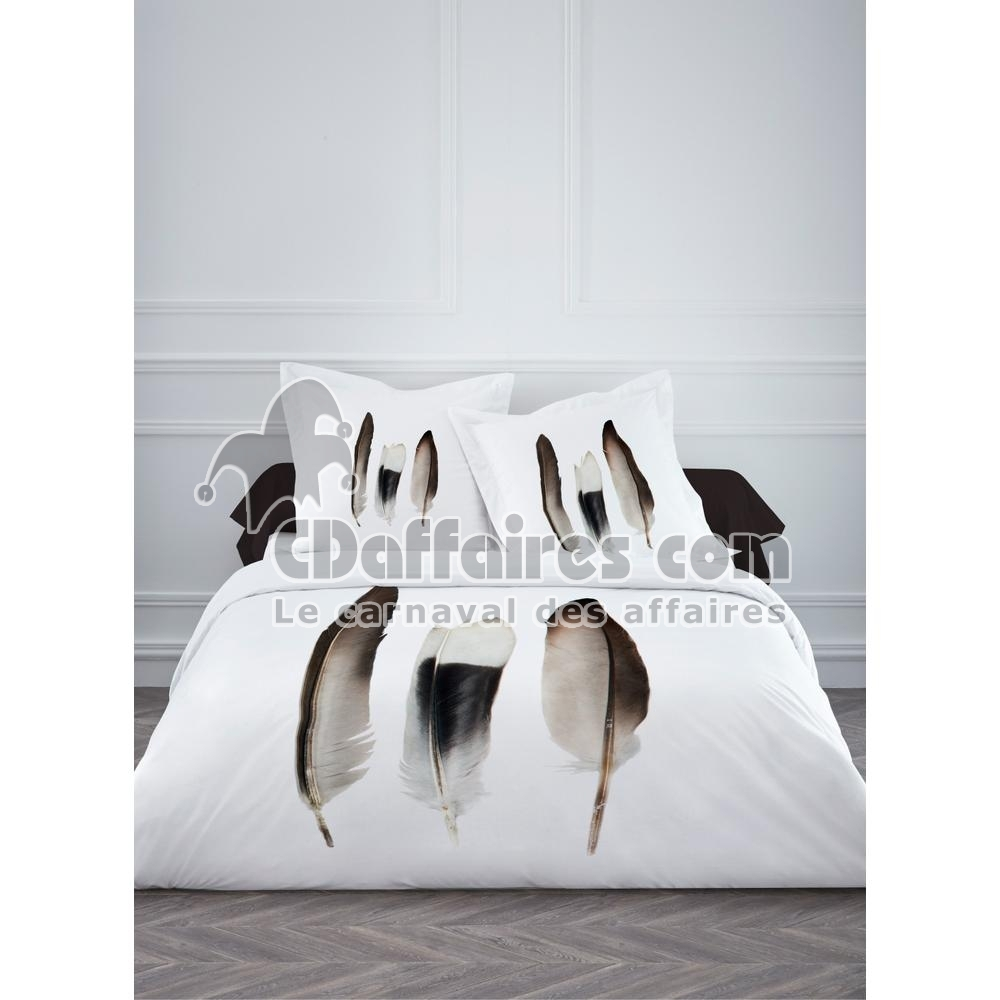 housse de couette 220x240 cm 100 coton plumes ebay. Black Bedroom Furniture Sets. Home Design Ideas