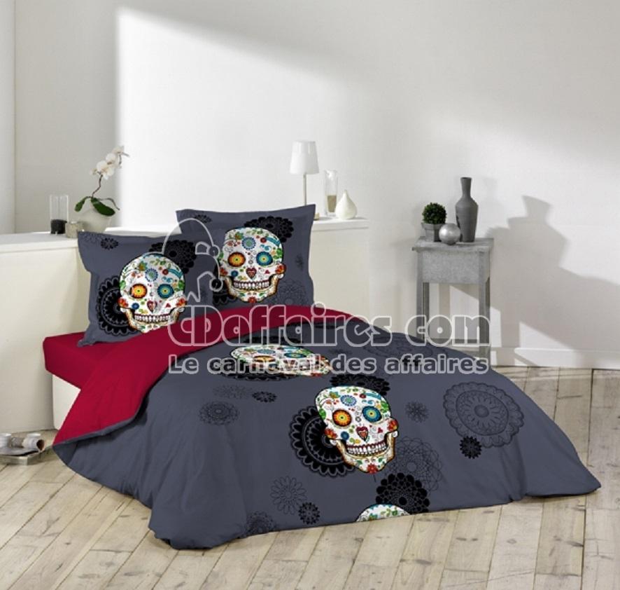 Housse de couette 220x240 cm 100 coton home bed mattress - Housse de couette coton 220x240 ...