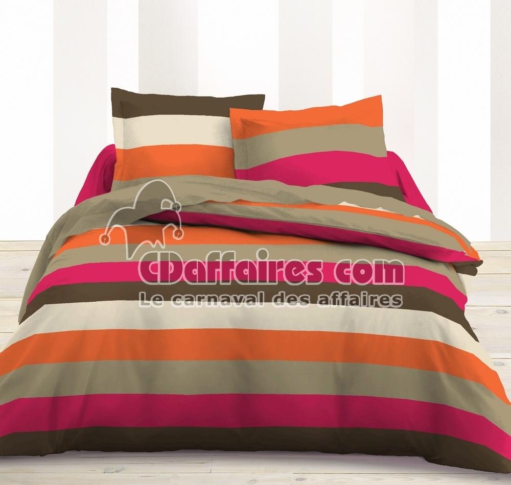 Housse de couette 220x240 cm 100 polyester flavie orange - Housses de couette la redoute ...