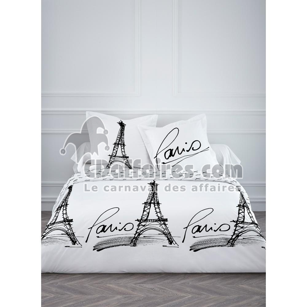 housse de couette 220x240 cm 2 taies rough of paris. Black Bedroom Furniture Sets. Home Design Ideas