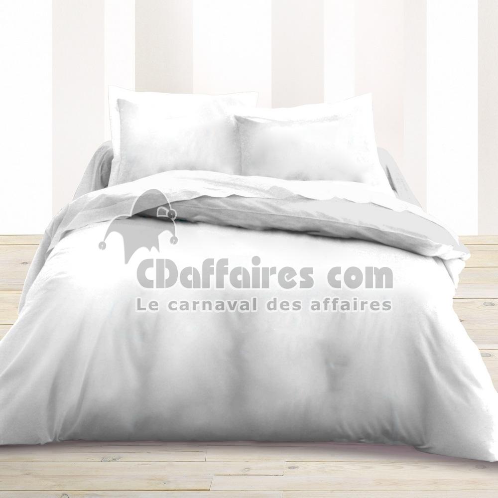 Housse De Couette 220x240 Cm Uni Blanc Ebay
