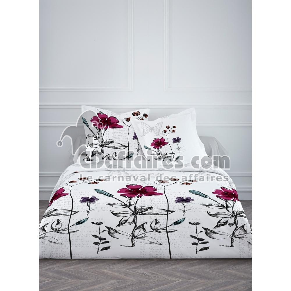 housse de couette 240x260 cm 2 aties 100 coton elona ebay. Black Bedroom Furniture Sets. Home Design Ideas