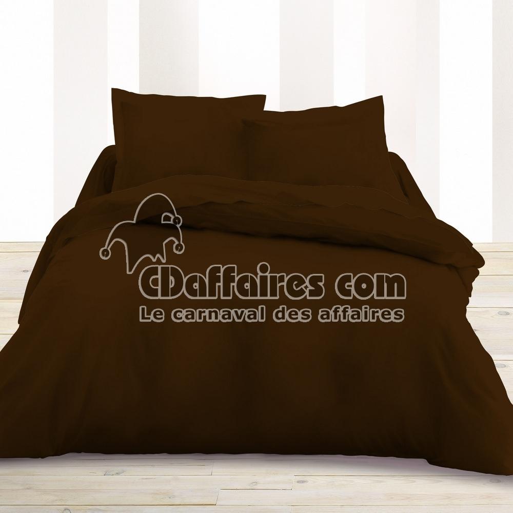 housse de couette 240x260 cm unie chocolat ebay. Black Bedroom Furniture Sets. Home Design Ideas