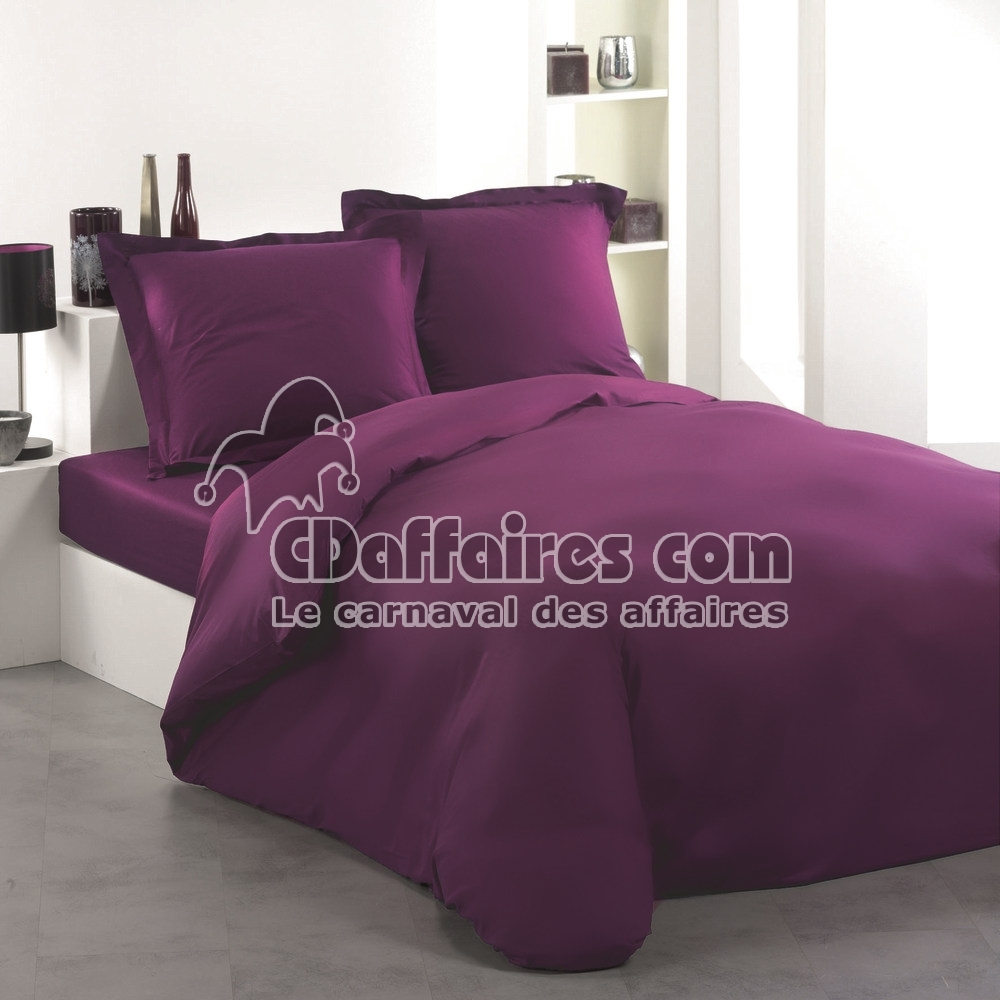 housse de couette 240x260 cm unie violet ebay. Black Bedroom Furniture Sets. Home Design Ideas