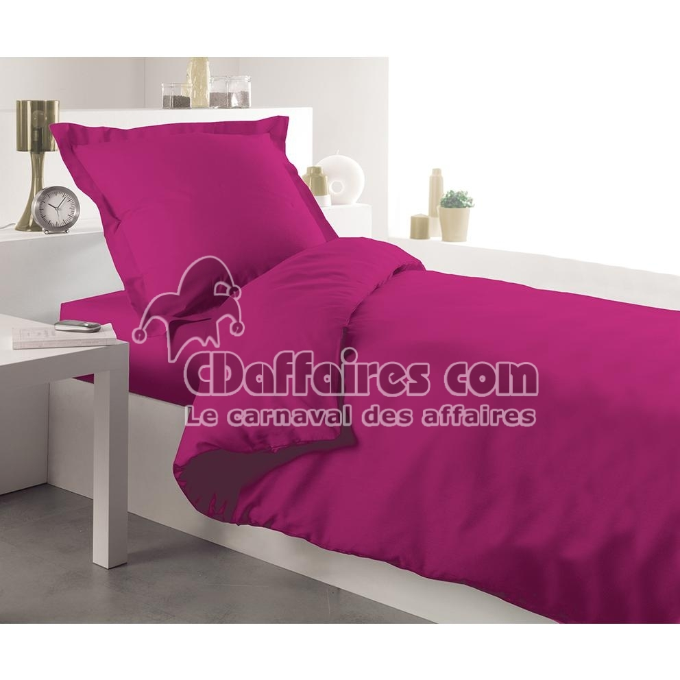 housse de couette unie 140x200 cm fuschia. Black Bedroom Furniture Sets. Home Design Ideas