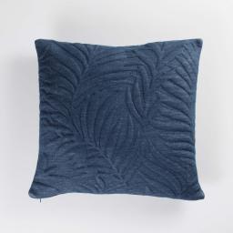Housse de coussin 40 x 40 cm jersey relief hexochic Bleu