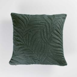 Housse de coussin 40 x 40 cm jersey relief hexochic Vert