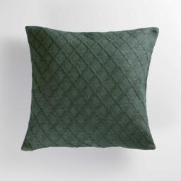 Housse de coussin 40 x 40 cm jersey relief Maora Vert