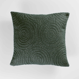 Housse de coussin 40 x 40 cm jersey relief solaris Vert