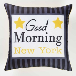 housse de coussin 40 x 40 cm polyester imprime morning nyc