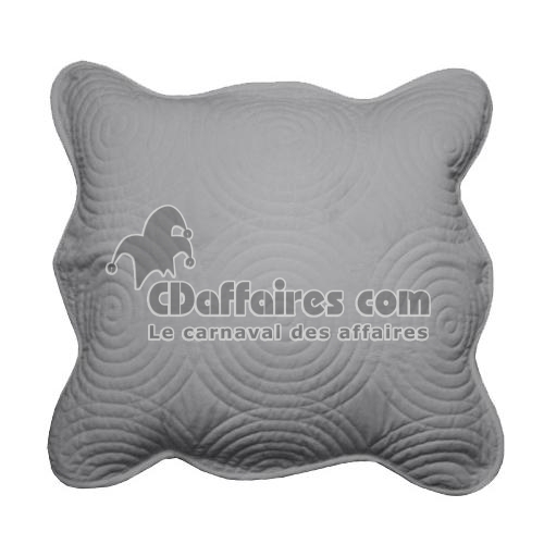 housse de coussin 45x45 cm boutis gris perle ebay. Black Bedroom Furniture Sets. Home Design Ideas