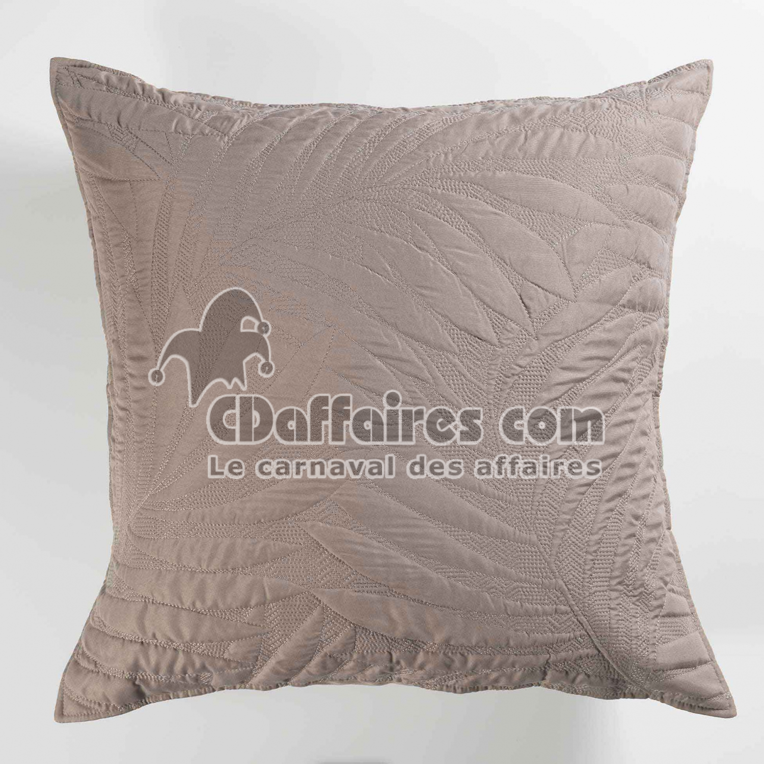 housse de coussin 60 x 60 cm microfibre unie alesia taupe cdaffaires. Black Bedroom Furniture Sets. Home Design Ideas