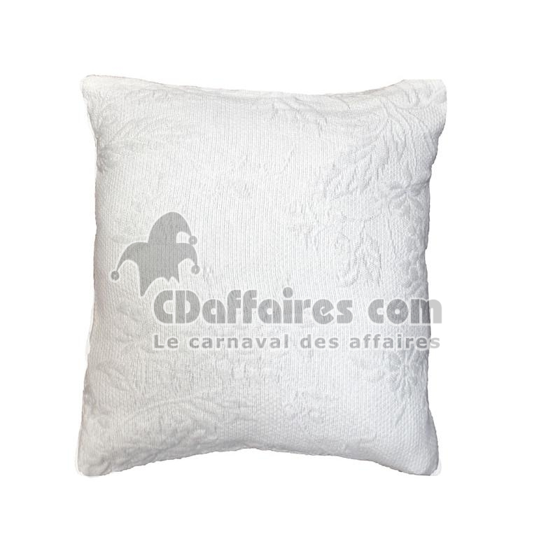 housse de coussin 60x60 cm pique de coton thea blanc. Black Bedroom Furniture Sets. Home Design Ideas