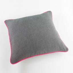 Housse de coussin +encart 40 x 40 cm coton jazzy Rose