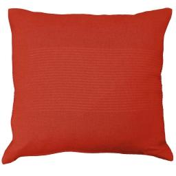 Housse de coussin +encart 40 x 40 cm coton tisse lana Corail