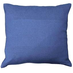 Housse de coussin +encart 40 x 40 cm coton tisse lana Indigo