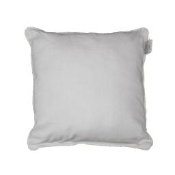Housse de coussin +encart 40 x 40 cm coton uni panama Blanc