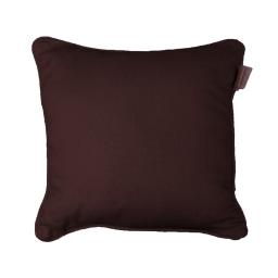 Housse de coussin +encart 40 x 40 cm coton uni panama Choco