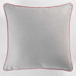 Housse de coussin +encart 40 x 40 cm coton uni panama Gris/Dragee