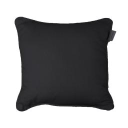 Housse de coussin +encart 40 x 40 cm coton uni panama Noir
