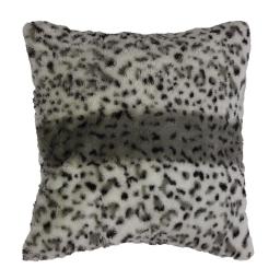 housse de coussin +encart 40 x 40 cm imitation fourrure hyene