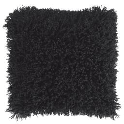 Housse de coussin +encart 40 x 40 cm imitation fourrure+suede c1057 mouton Noir