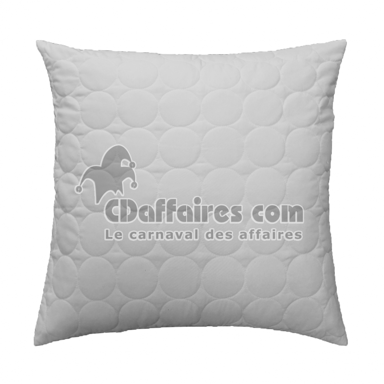 housse de coussin encart 40 x 40 cm microfibre unie candy blanc cdaffaires. Black Bedroom Furniture Sets. Home Design Ideas