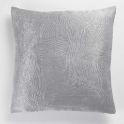 Housse de coussin +encart 40 x 40 cm occultant velours frappe dreamtime Gris