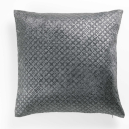 Housse de coussin +encart 40 x 40 cm occultant velours frappe nighty Anthracite