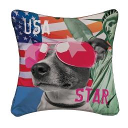 housse de coussin +encart 40 x 40 cm polyester imprime doggy star