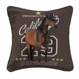 housse de coussin +encart 40 x 40 cm polyester imprime horse 29