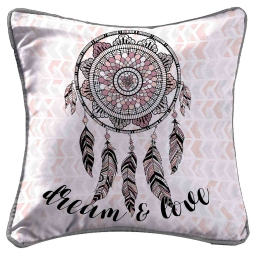 housse de coussin +encart 40 x 40 cm polyester imprime indian dream