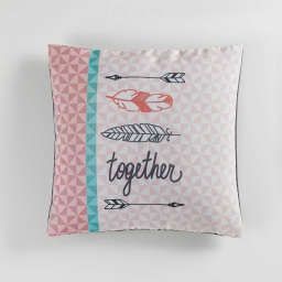 housse de coussin +encart 40 x 40 cm polyester imprime together