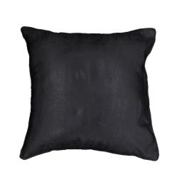Housse de coussin +encart 40 x 40 cm shantung imprime argent steel Noir