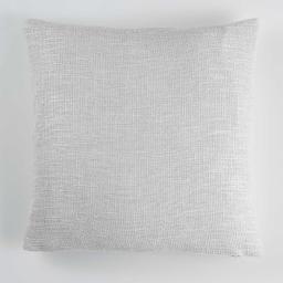 Housse de coussin +encart 40 x 40 cm tricot metissia Naturel