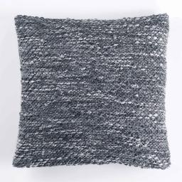 Housse de coussin +encart 40 x 40 cm tricot tweedy Gris