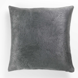 Housse de coussin +encart 40x40 cm occultant velours frappe dreamtime Anthracite