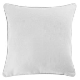 Housse de coussin +encart 60 x 60 cm coton uni panama Blanc