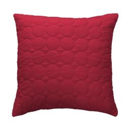 Housse de coussin +encart 60 x 60 cm microfibre unie candy Rouge