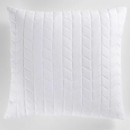 Housse de coussin +encart 60 x 60 cm microfibre unie erika Blanc