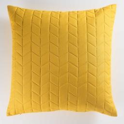 Housse de coussin +encart 60 x 60 cm microfibre unie erika Miel