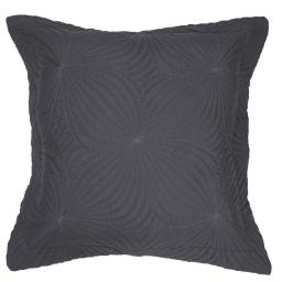 Housse de coussin +encart 60 x 60 cm microfibre unie florencia Anthracite