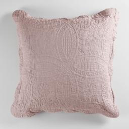 Housse de coussin +encart 60 x 60 cm microfibre unie stony Rose